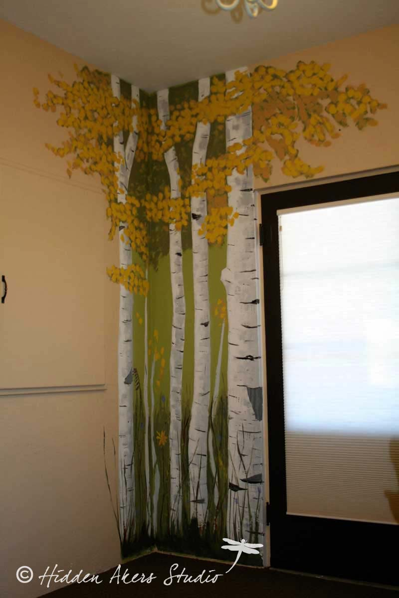 Aspen tree wall mural for Aspen wall mural